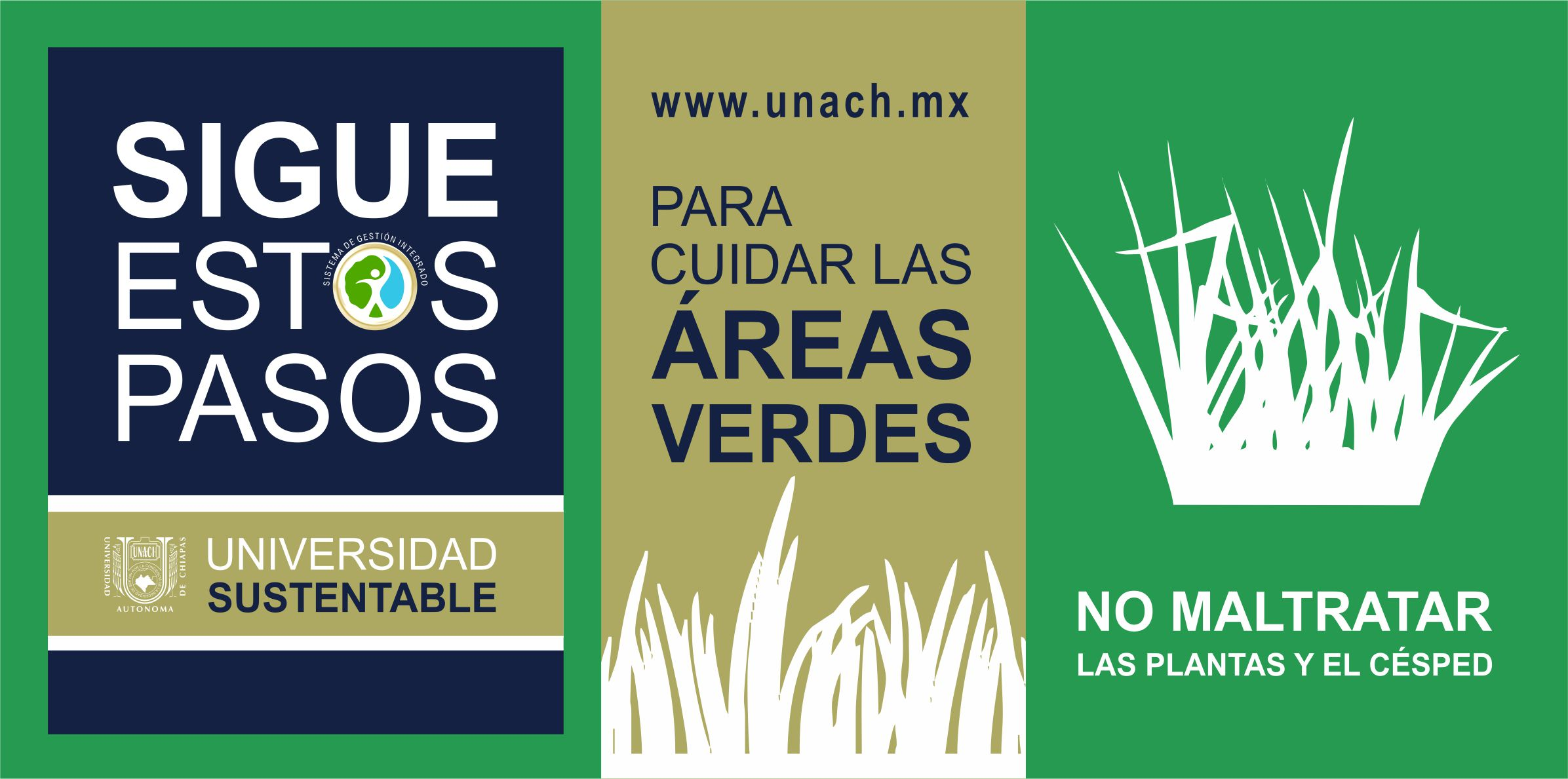 #UniversidadResponsable Cuida las áreas verdes #OrgulloUNACH
