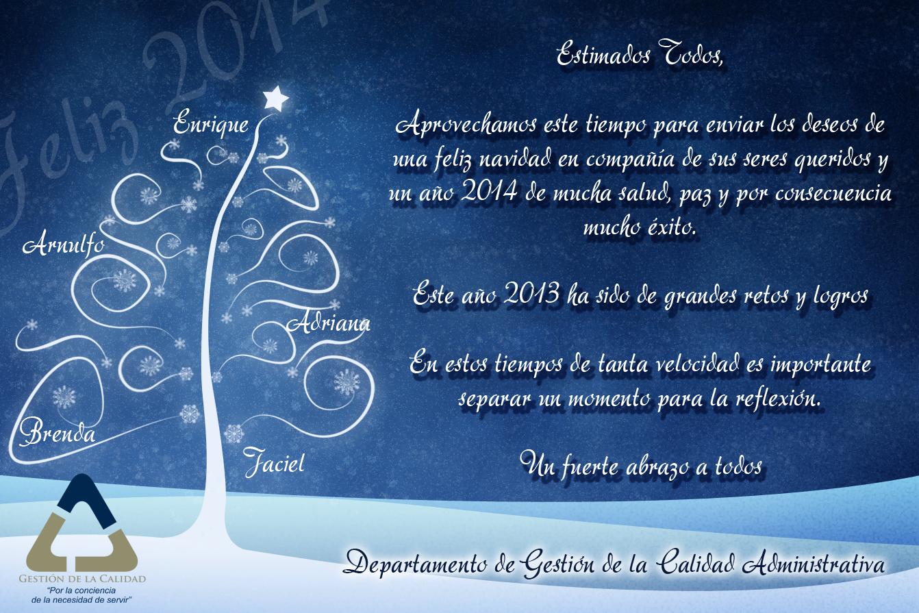 Sistema de gesti n integrado mensaje de navidad y a o - Mensajes para navidad y ano nuevo ...